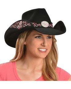 Bullhide Rockin To The Beat Wool Cowgirl Hat, Black