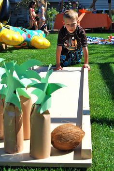 coconut bowling to add a tropical flavour to your garden games