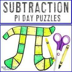 SUBTRACTION Pi Day for Elementary Students - Puzzle Activities or Math Centers | 1st, 2nd, 3rd grade, Activities, Basic Operations, Games, Holidays/Seasonal, Homeschool, Math, Math Centers