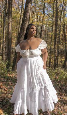 Black Girl Aesthetic, Aesthetic Fashion, Aesthetic Clothes, White Flowy Dress, Girls White Dress, Elegant Dresses, Pretty Dresses, Beautiful Dresses, Zooey Deschanel