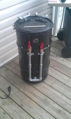 Drum Smoker built, now just need to grab some high heat gold paint and put soms Saints logos on it (UDS)