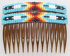 beaded hair combs - Google Search