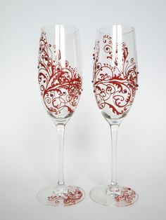 Personalized Toasting Glasses | Wedding Toasting Flutes Set Of 2 Personalized Champagne Glasses ...