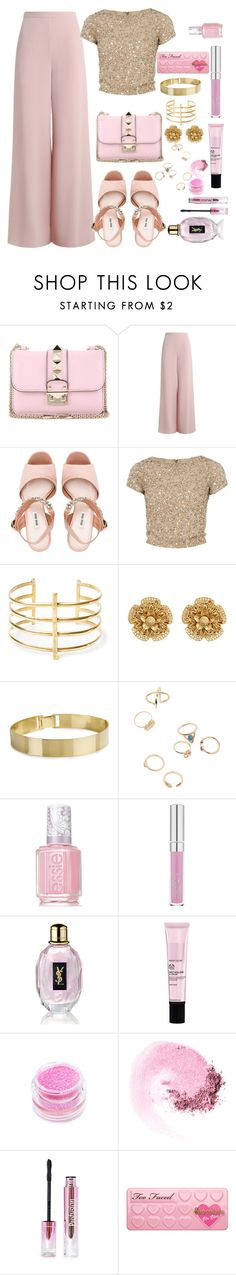 """""""Untitled #125"""" by amanihalaly on Polyvore featuring Valentino, Zimmermann, Miu Miu, Alice + Olivia, BauXo, Miriam Haskell, Essie, Yves Saint Laurent, Medusa's Makeup and NARS Cosmetics"""