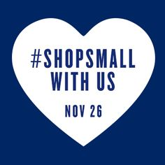 Today's the big day. Let's all show our support to help our community & amazing small businesses grow:  #ShopSmall