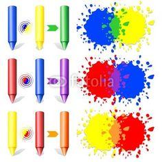 Primary Colors Pencils Stains © bluedarkat