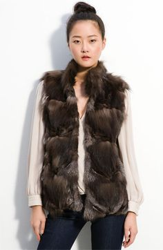 my fox fur vest - it was Christmas present from Riley :) i wear it 3x a week with skirts, jeans, work pants, etc. it looks great with EVERYTHING