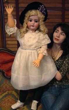 "BREATHTAKING HUGE 39""Antique German Simon & Halbig 1078 Doll So SWEET c1900"