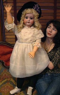 "Breathtaking Huge 39""Antique German Simon Halbig 1078 Doll So Sweet C1900 