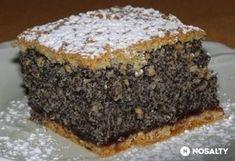 Ahogy a neve is elárulja, ez a mákos süti tényleg egy csoda! Hungarian Desserts, Hungarian Recipes, Cookie Recipes, Dessert Recipes, Czech Recipes, Croatian Recipes, Sweet And Salty, Homemade Cakes, Creative Food