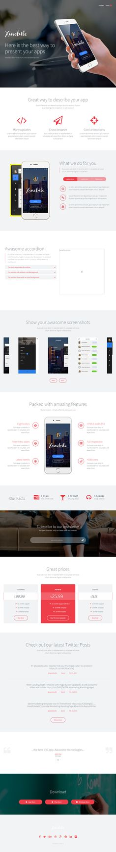 Xmobile is Premium full Responsive Retina WordPress Landing Page Theme. One Page. Bootstrap Framework. Parallax Scrolling. Test free demo at: http://www.responsivemiracle.com/cms/xmobile-premium-responsive-app-landing-page-wordpress-theme/