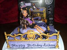 Homemade Monster High Clawdeen Wolf Cake: My daughters love everything Monster High. My youngest had told me she wanted a Clawdeen Wolf cake. I started by buying a set that I new she had been wanting.