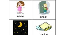 Incorporate these initial /n/ vocabulary cards into therapy activities you do with your child!