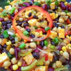 Delicious & Colorful Bean Salad - Cassies Recipe | Just A Pinch Recipes