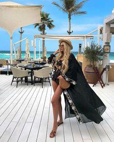 "Lux Linen Embroidered Dress ""Rouse flowers"" Ukrainian Vyshyvanka Dress Mexican Dress Kaftan Abaya, Caftan Boho style w Etsy Ibiza Outfits, Vacation Outfits, Summer Outfits, Cute Outfits, Beach Outfits, Pretty Outfits, Boho Fashion, Fashion Dresses, Woman Fashion"