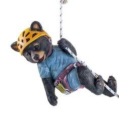 'Jamie' The Rock Climbing Hanging Black Bear Garden Ornament - Modern Animal Garden Ornaments, Black Bear, Rock Climbing, Animal Design, Traditional Design, The Rock, Garden Inspiration, Scooby Doo, Garden Design