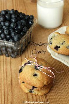 Blueberry Cookies - theBitterSideofSweet