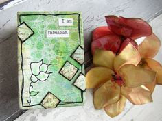 Mini Notebook by Gemma Hynes using stamps from The Artistic Stamper. Warm And Cool Colors, Bold Colors, Colours, Whole Image, Little Books, White Ink, Mini Books, Mini Albums, Stencils