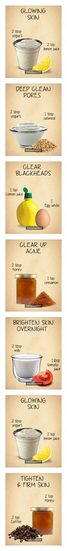 10 Amazing 2 ingredients all natural homemade face masks Homemade Skin Care Homemade Face Masks, Homemade Skin Care, Diy Skin Care, Skin Care Tips, Belleza Diy, Tips Belleza, Beauty Secrets, Beauty Hacks, Diy Beauty