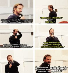 (gif set) Richard Speight Jr. About Jared and His Hair