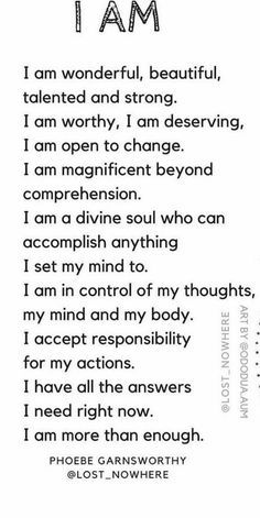 Affirmations self esteem Daily Positive Affirmations, Positive Affirmations Quotes, Morning Affirmations, Affirmation Quotes, Positive Quotes, Positive Thoughts, Affirmations For Women, Self Esteem Affirmations, Positive Self Talk