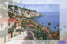 La Porta Rossa Sulla Salita Canvas Print / Canvas Art by Guido Borelli Cross Paintings, Wall Paintings, Arts Award, Landscape Artwork, First Art, Colorful Paintings, Art Challenge, Stretched Canvas Prints, Fine Art America