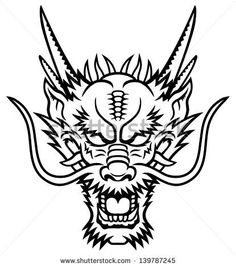 Image result for dragon head drawing