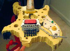 """Vigier """"Bumblefoot"""" Swiss Cheese guitar"""