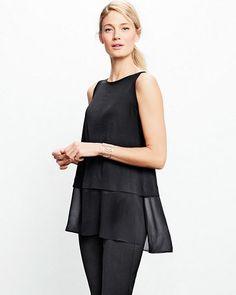 Eileen Fisher Silk Jersey Bateau-Neck Boxy Shell
