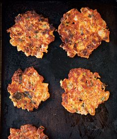 Kimchi Pancakes  These savory pancakes are flavored with ground pork and chopped kimchi