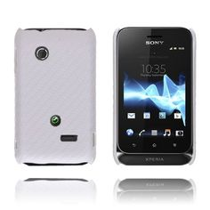 Carbon (Hvit) Sony Xperia Tipo Deksel
