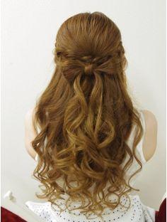Hair Make Felice三宮☆編み込みリボンハーフアップ Hair To Go, New Hair, Open Hairstyles, Braided Hairstyles, Cool Haircuts For Girls, Hair Arrange, Japanese Hairstyle, Hair Lengths, Hair Inspiration