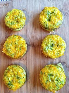 cheddar broccoli egg muffin - so easy!