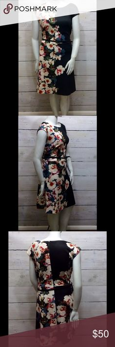 Dress Barn - Dress (Plus) Zips in the back and comes with belt. I always size up with dress barn dresses. Dress Barn Dresses Midi