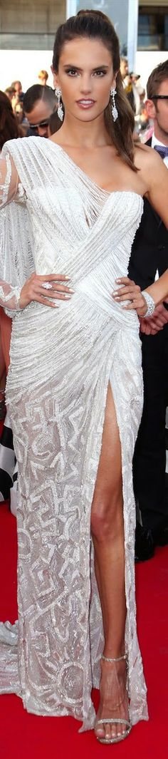 Alessandra Ombrosio in Atelier Versace at the Cannes Film Festival 2014