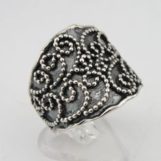 Jewela New Sterling Silver filigree ring
