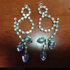 #orecchini in #cristallo #trasparente. Su www.oro18.eu #oro18 #bigiotteria #bijoux #jewelry