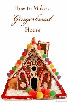 How to make a homemade gingerbread house! Get in the holiday spirit with this fun family project. #Christmas #Gingerbread #GingerbreadHouse #Holiday