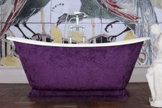 Freestanding baths from our Galleon range. A double slipper roll top bath with deep sides and classical proportions. Leather Roll, Leather Fabric, Cast Iron Bath, Roll Top Bath, Steel Wool, Centre Pieces, Paint Finishes, Bathroom Interior Design, Baths