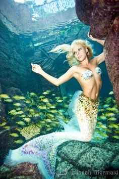 Hannah Fraser aka Hannah Mermaid photo taken in Atlantis, Bahamas