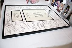 frame your invitation and use as a guest book