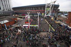 Le Millenium Stadium de Cardiff avant Argentine-Irlande