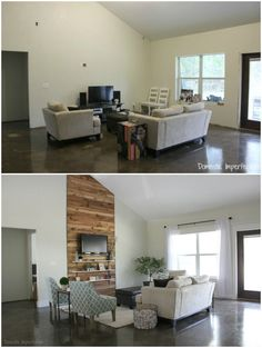$1,000 living room makeover before and after