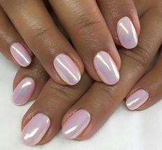 Latest Unicorn pigment over pink gel - Fashion Latest Unicorn pigme. Latest Unicorn pigment over pink gel - Fashion Latest Unicorn pigment over pink gel - Fashion Pink Chrome Nails, Pink Gel Nails, Metallic Nails, Pink Holographic Nails, Mauve Nails, Gorgeous Nails, Pretty Nails, Hair And Nails, My Nails