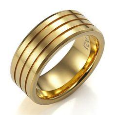 Men Gold Wedding Bands Gents Ring