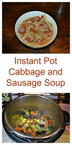 Instant Pot Sausage and Cabbage Soup #soup #cabbage #instantpot | Soup Recipes | Cabbage Recipes | Instant Pot Recipes Dump Soup Recipe, Cabbage Soup Recipes, Chili Recipes, Instant Pot Recipe Books, Pressure Cooker Recipes, Slow Cooker, Cabbage And Sausage, Crazy Kitchen, Sausage Soup