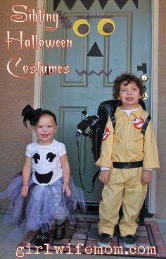 Easy DIY Halloween Costumes for Siblings girlwifemom.com