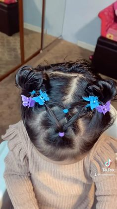 Toddler Hair Dos, Easy Toddler Hairstyles, Easy Little Girl Hairstyles, Kids Curly Hairstyles, Baby Girl Hairstyles, Hairstyles For Toddlers, Girl Hair Dos, Styling Baby Girl Hair, Baby Hair Dos