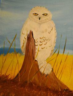 Snowy Owl  16x20 inch canvas