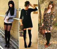 A trend I'm really loving right now is knee high socks. You can wear them in so many way and still wear your cute short dresses and skirts a. Fall Outfits, Cute Outfits, Fashion Outfits, Floral Outfits, Fashion Ideas, Casual Outfits, Knee Socks Outfits, Dress Socks, Cute Short Dresses